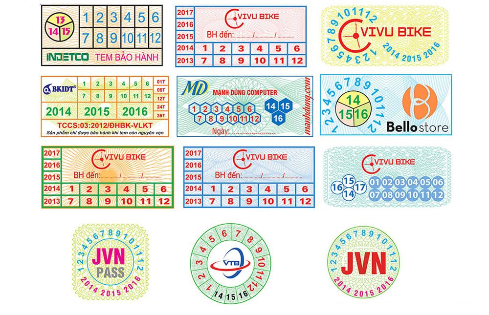In tem bảo hành giá rẻ nhất
